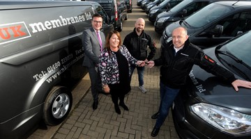 Alliance Leasing supplies ten vans to St Neots-based UK Membranes